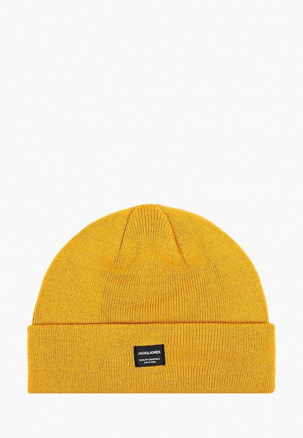 мужская шапка jack & jones, желтая