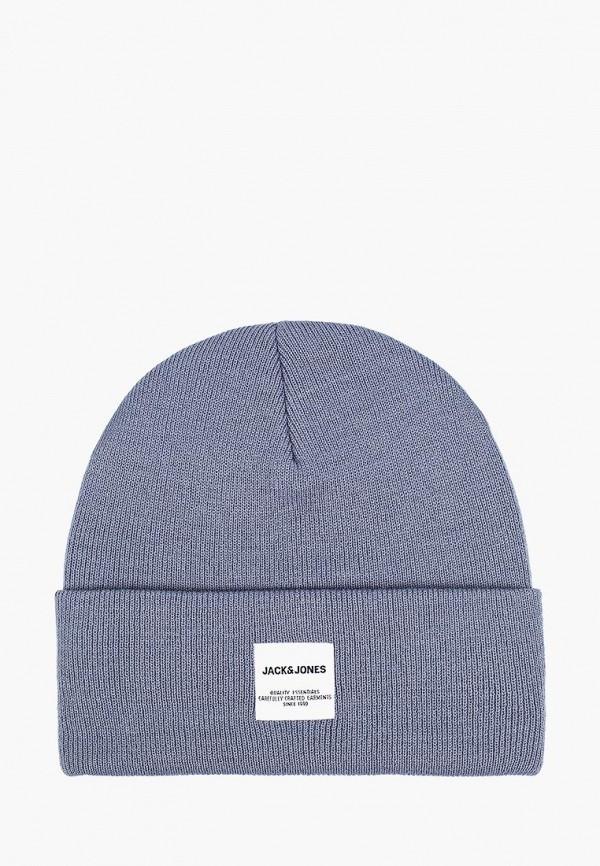 мужская шапка jack & jones, голубая