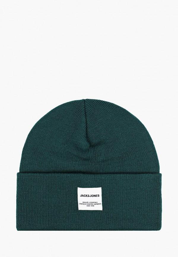 мужская шапка jack & jones, зеленая