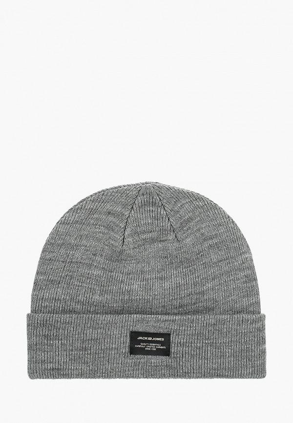 мужская шапка jack & jones, серая