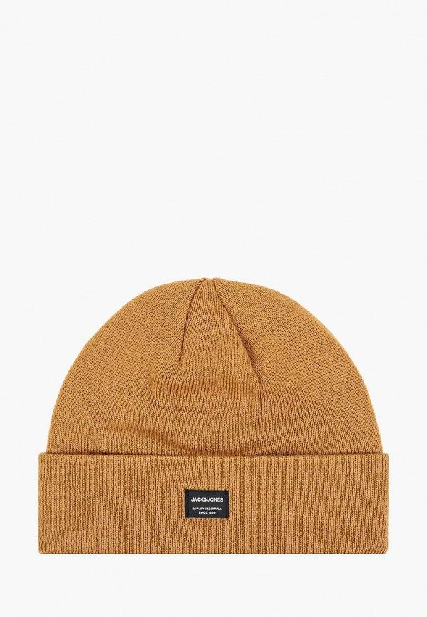 мужская шапка jack & jones, коричневая