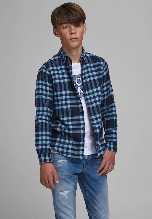 рубашка jack & jones для мальчика, синяя