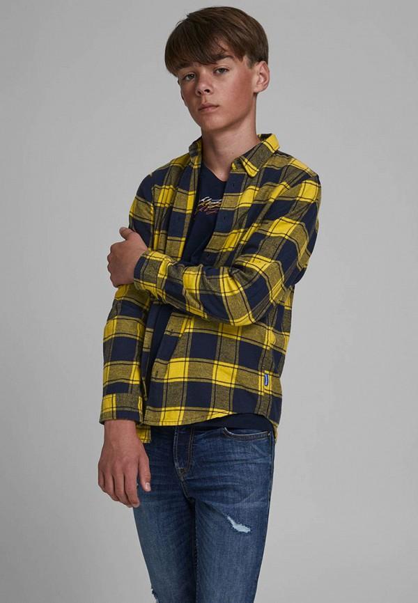рубашка jack & jones для мальчика, желтая