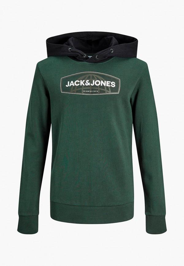 худи jack & jones для мальчика, зеленые
