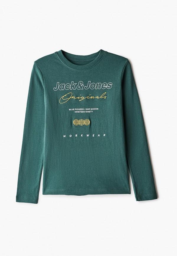 лонгслив jack & jones для мальчика, зеленый
