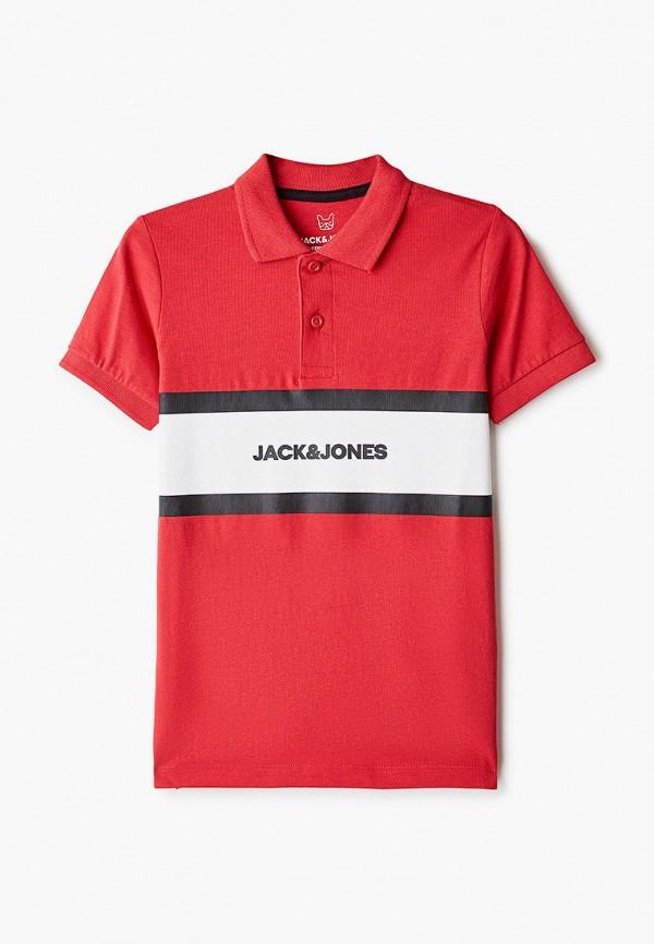 поло jack & jones для мальчика, красное