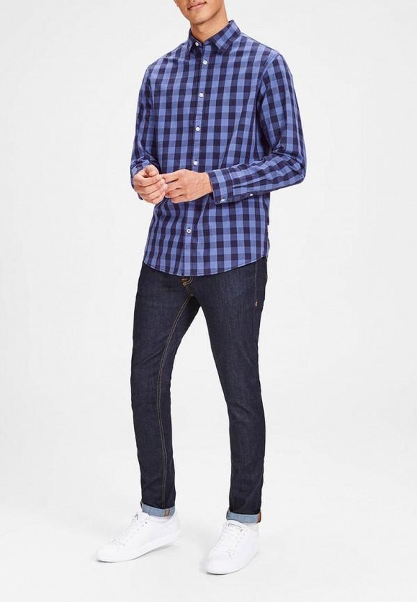 Фото 2 - Рубашку Jack & Jones синего цвета