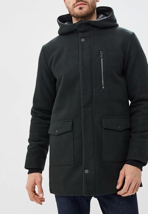 мужское пальто jack & jones, зеленое