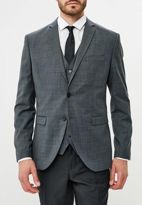 мужской пиджак jack & jones, серый