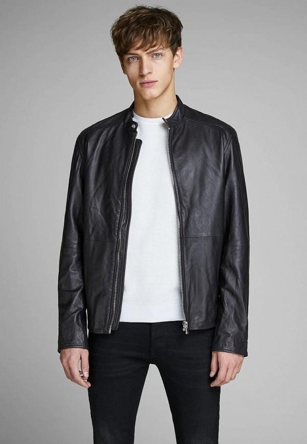 Купить Куртка кожаная Jack & Jones, ja391emdkeg1, черный, Весна-лето 2019