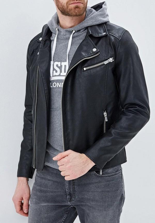 Купить Куртка кожаная Jack & Jones, ja391emdkel3, черный, Весна-лето 2019