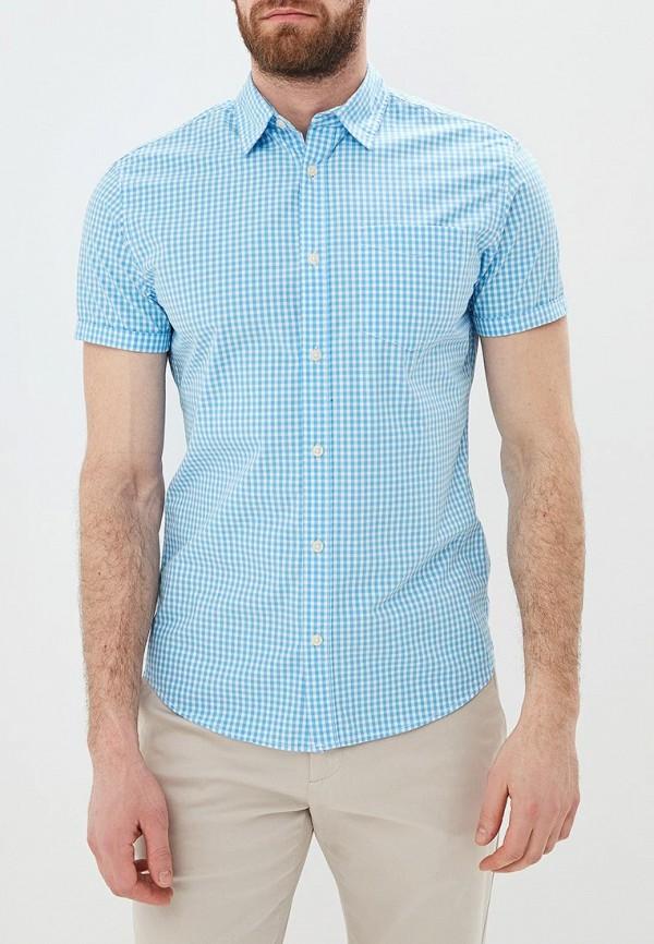 мужская рубашка с коротким рукавом jack & jones, голубая