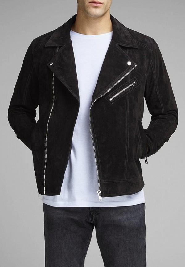 Купить Куртка кожаная Jack & Jones, ja391emdkeo7, черный, Весна-лето 2019