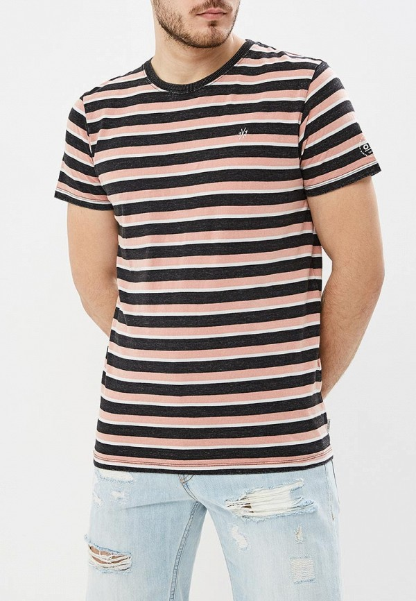 мужская футболка с коротким рукавом jack & jones, розовая