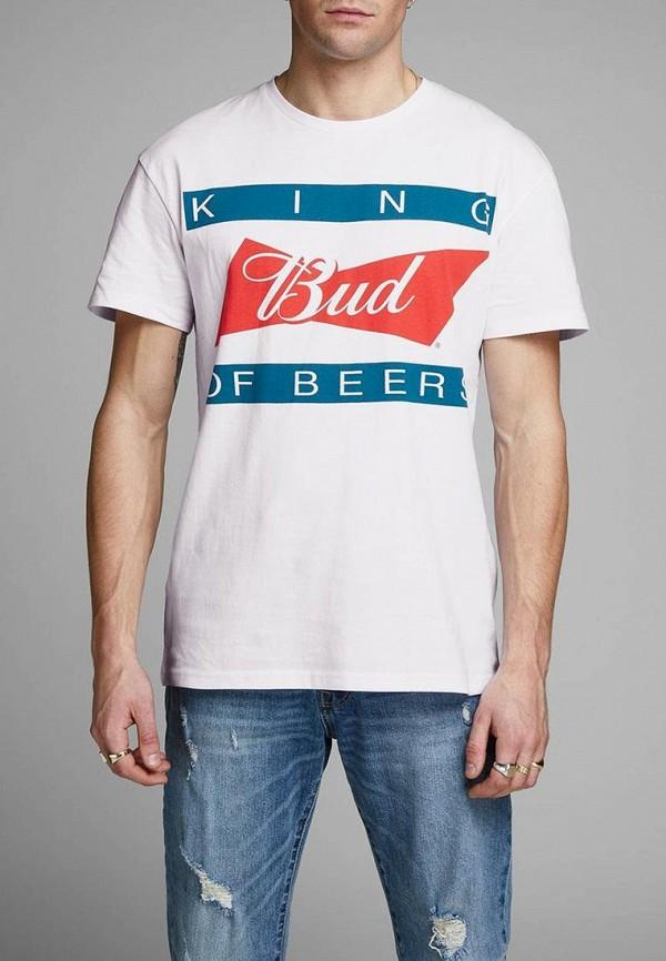 мужская футболка с коротким рукавом jack & jones, белая