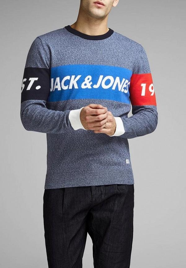 Джемпер Jack & Jones, ja391emdkfm9, синий, Весна-лето 2019  - купить со скидкой