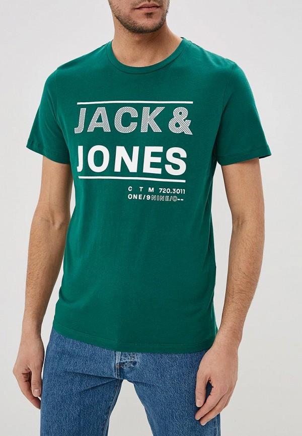 Купить Футболка Jack & Jones, ja391emdkfq5, зеленый, Весна-лето 2019
