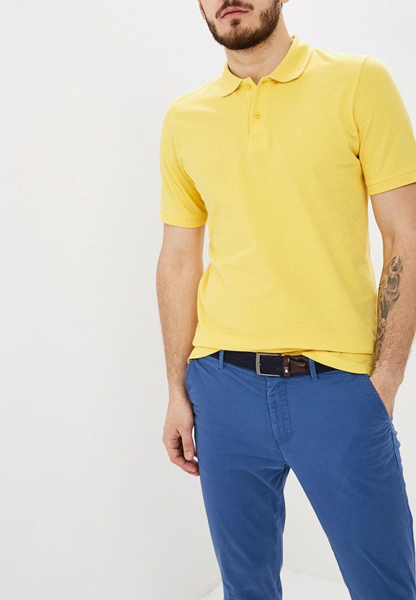 Купить Поло Jack & Jones, ja391emdnnq7, желтый, Весна-лето 2019