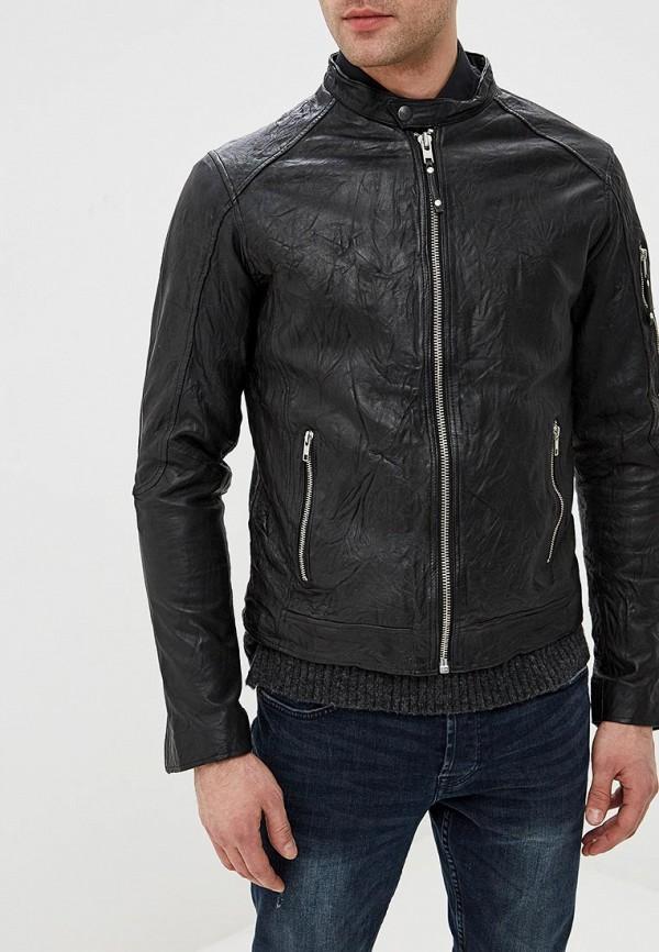 Купить Куртка кожаная Jack & Jones, ja391emdnoq5, черный, Весна-лето 2019