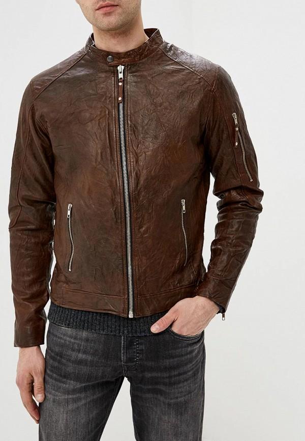 Купить Куртка кожаная Jack & Jones, ja391emdnoq6, коричневый, Весна-лето 2019