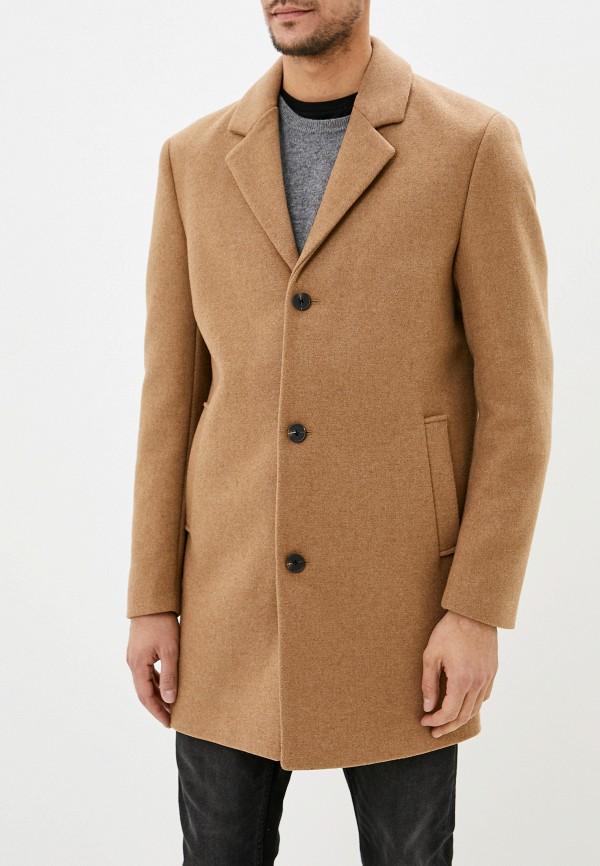 мужское пальто jack & jones, бежевое