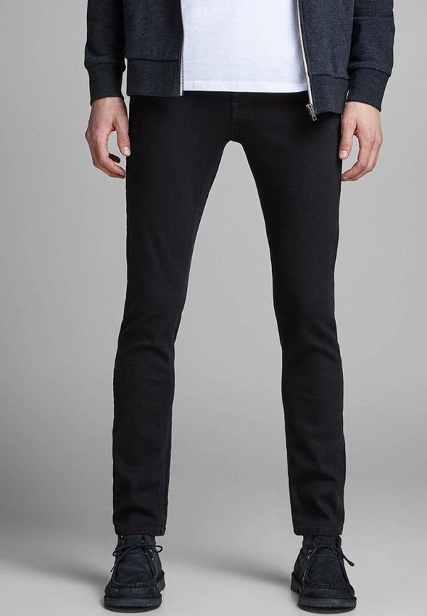 мужские зауженные джинсы jack & jones, черные