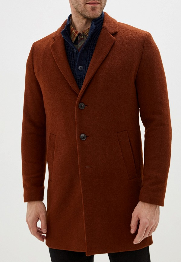 мужское пальто jack & jones, коричневое