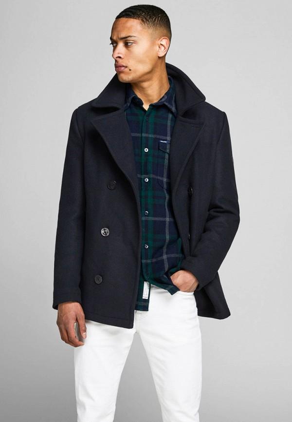 мужское пальто jack & jones, синее