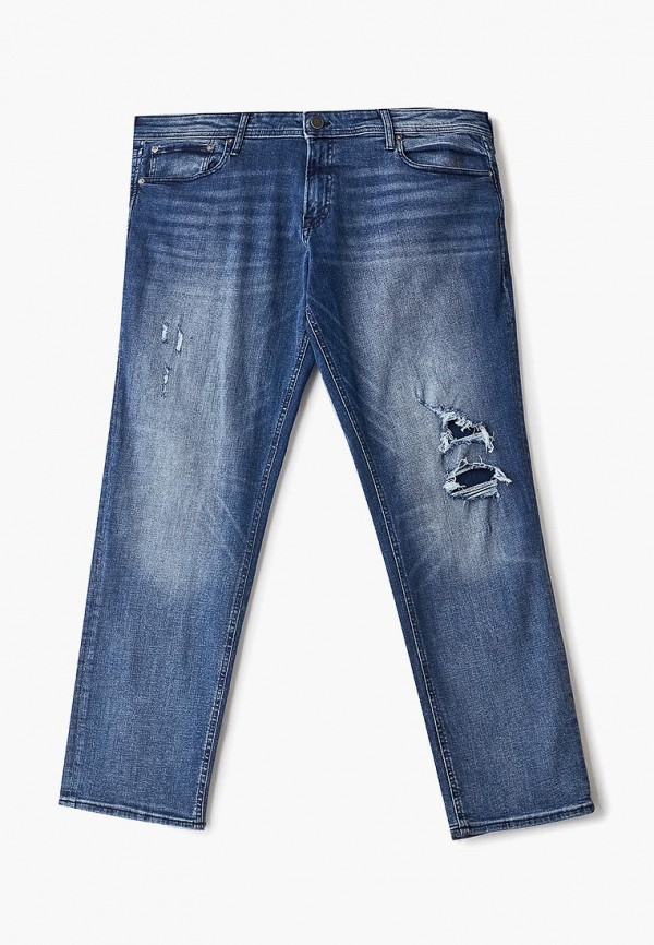 мужские прямые джинсы jack & jones, синие