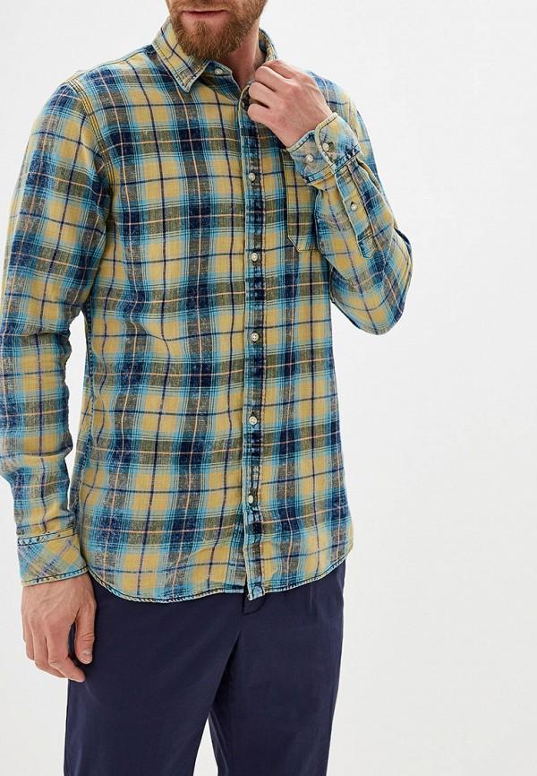 мужская рубашка с длинным рукавом jack & jones, зеленая