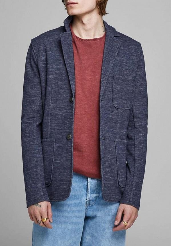 мужской пиджак jack & jones, синий