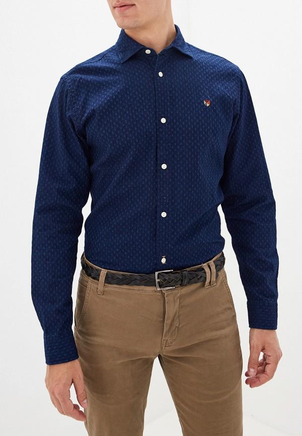 мужская рубашка jack & jones, синяя