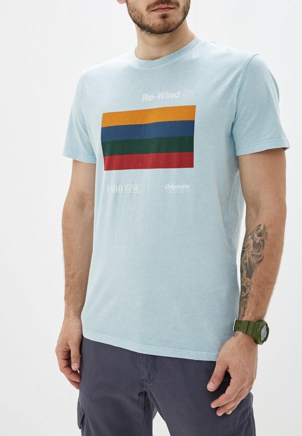 мужская футболка с коротким рукавом jack & jones, бирюзовая