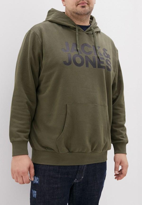 мужские худи jack & jones, хаки