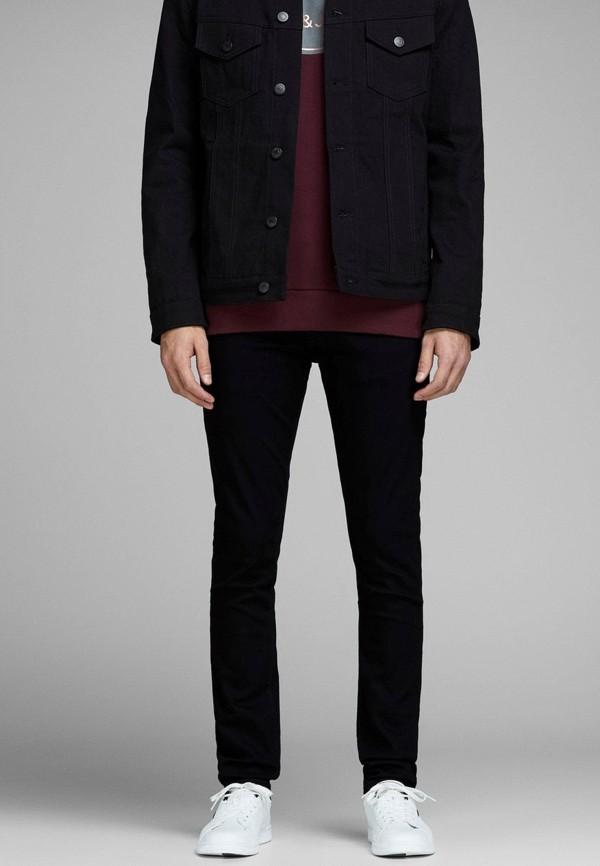 мужские прямые джинсы jack & jones, черные