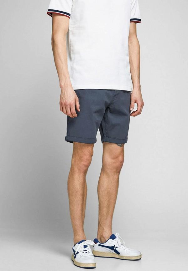 мужские повседневные шорты jack & jones, синие