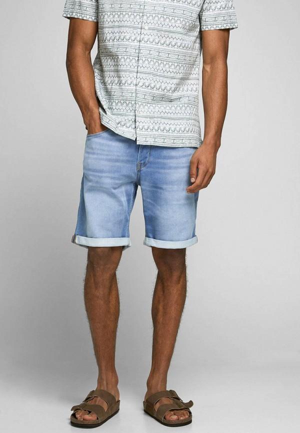 мужские джинсовые шорты jack & jones, голубые