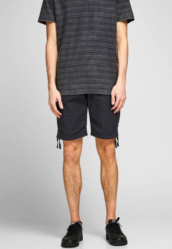 мужские повседневные шорты jack & jones, черные
