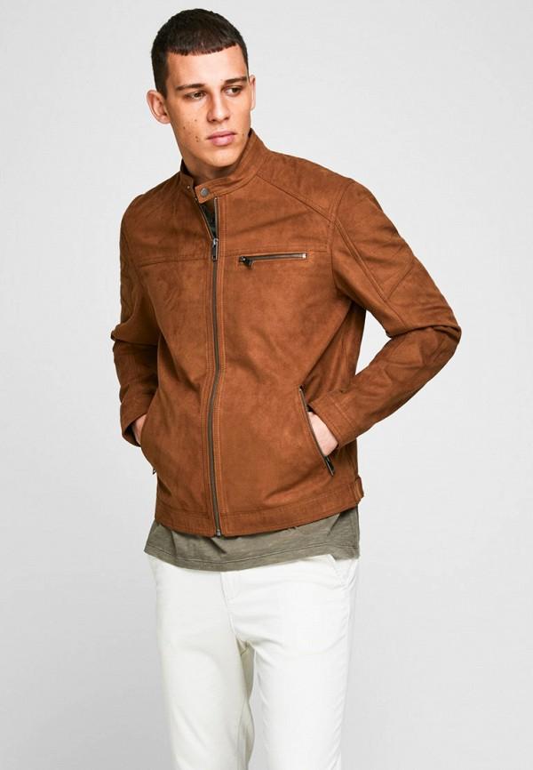 мужская куртка jack & jones, коричневая