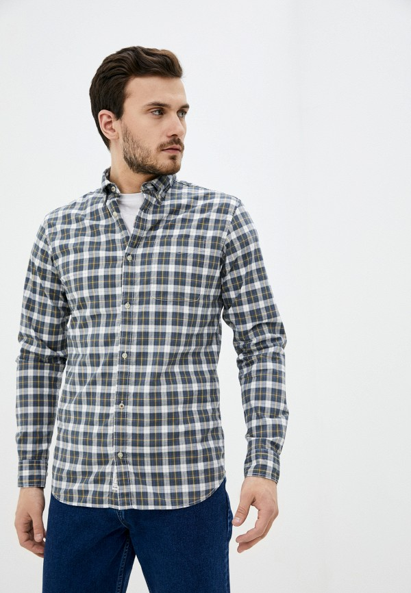 мужская рубашка с длинным рукавом jack & jones, серая