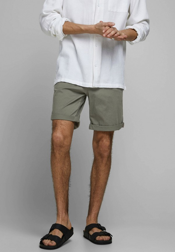 мужские повседневные шорты jack & jones, хаки