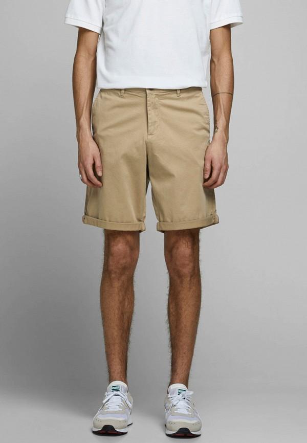 мужские повседневные шорты jack & jones, бежевые