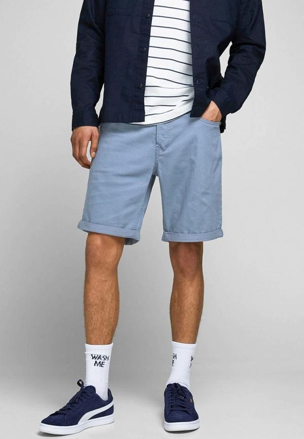 мужские повседневные шорты jack & jones, голубые