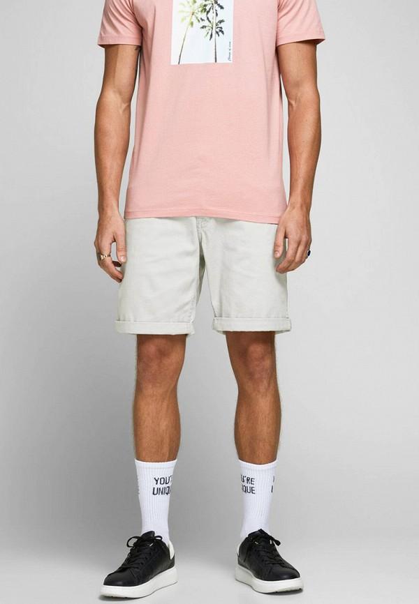 мужские повседневные шорты jack & jones, серые