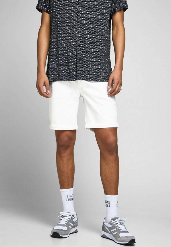 мужские повседневные шорты jack & jones, белые