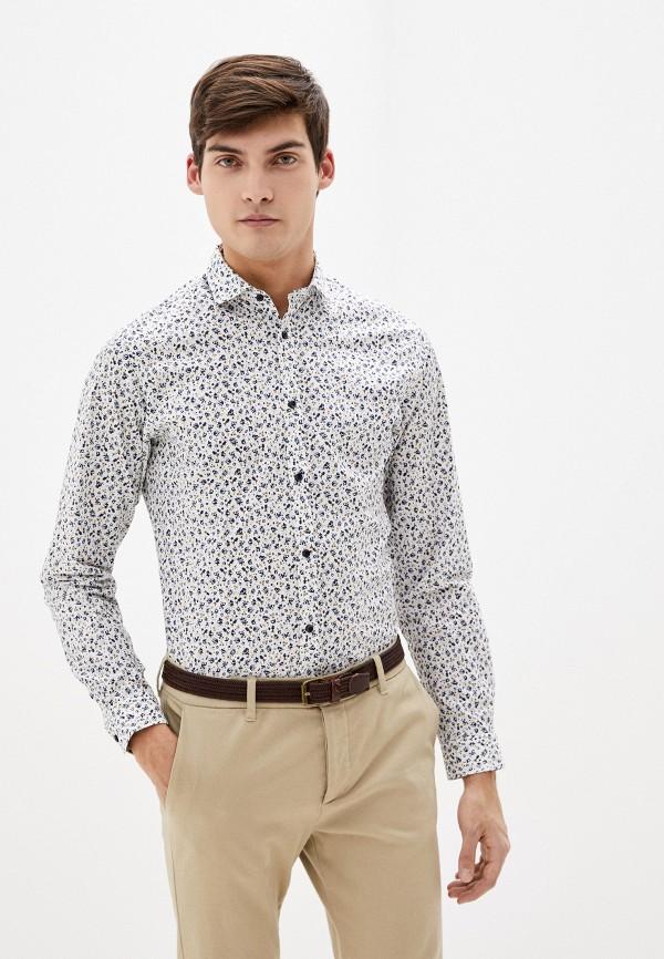 мужская рубашка с длинным рукавом jack & jones, белая