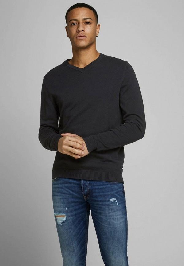 мужской пуловер jack & jones, черный