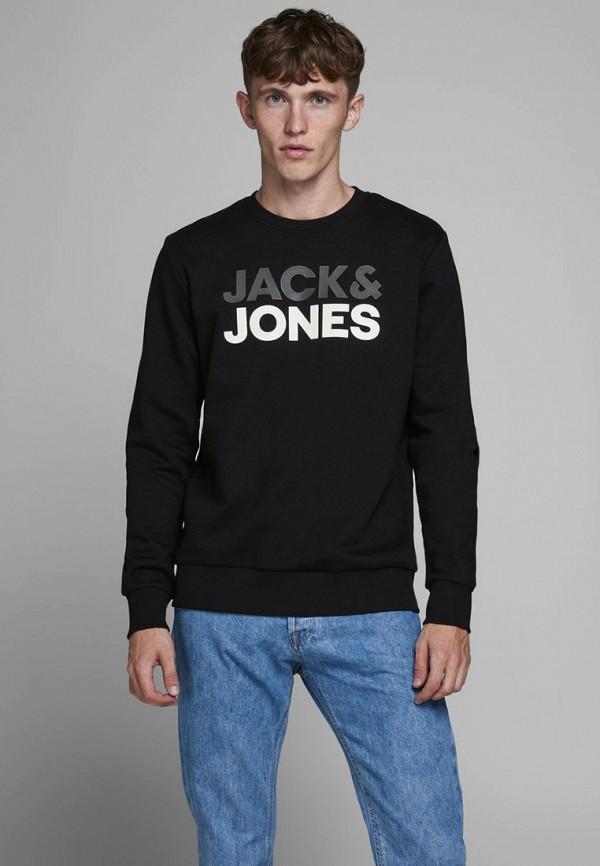 мужской свитшот jack & jones, черный