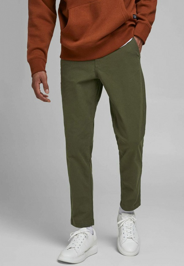 мужские брюки чинос jack & jones, хаки