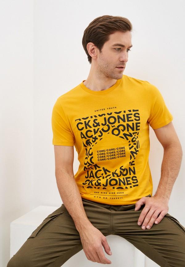 мужская футболка с коротким рукавом jack & jones, оранжевая